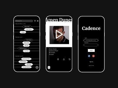 Cadence minimal 2 color ui mobile