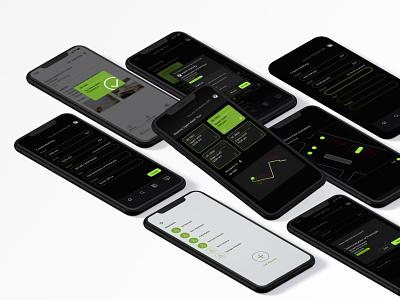Smart Office part 2 mobile app design minimal white green mobile mobile ui