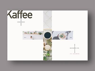 Kaffee+ branding 2 color minimal grey pink kaffee coffee typography landing page desktop