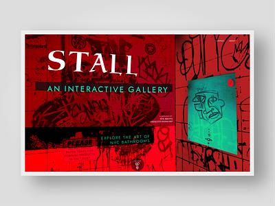 Graffiti Exhibition Landing Page branding landing page ui graffiti 2 color red landing page