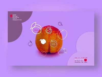 Brooklyn Twerk Competition 2020 branding hero image purple pink landing page ui desktop landing page