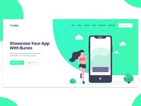 Hero Area For App Landing Page