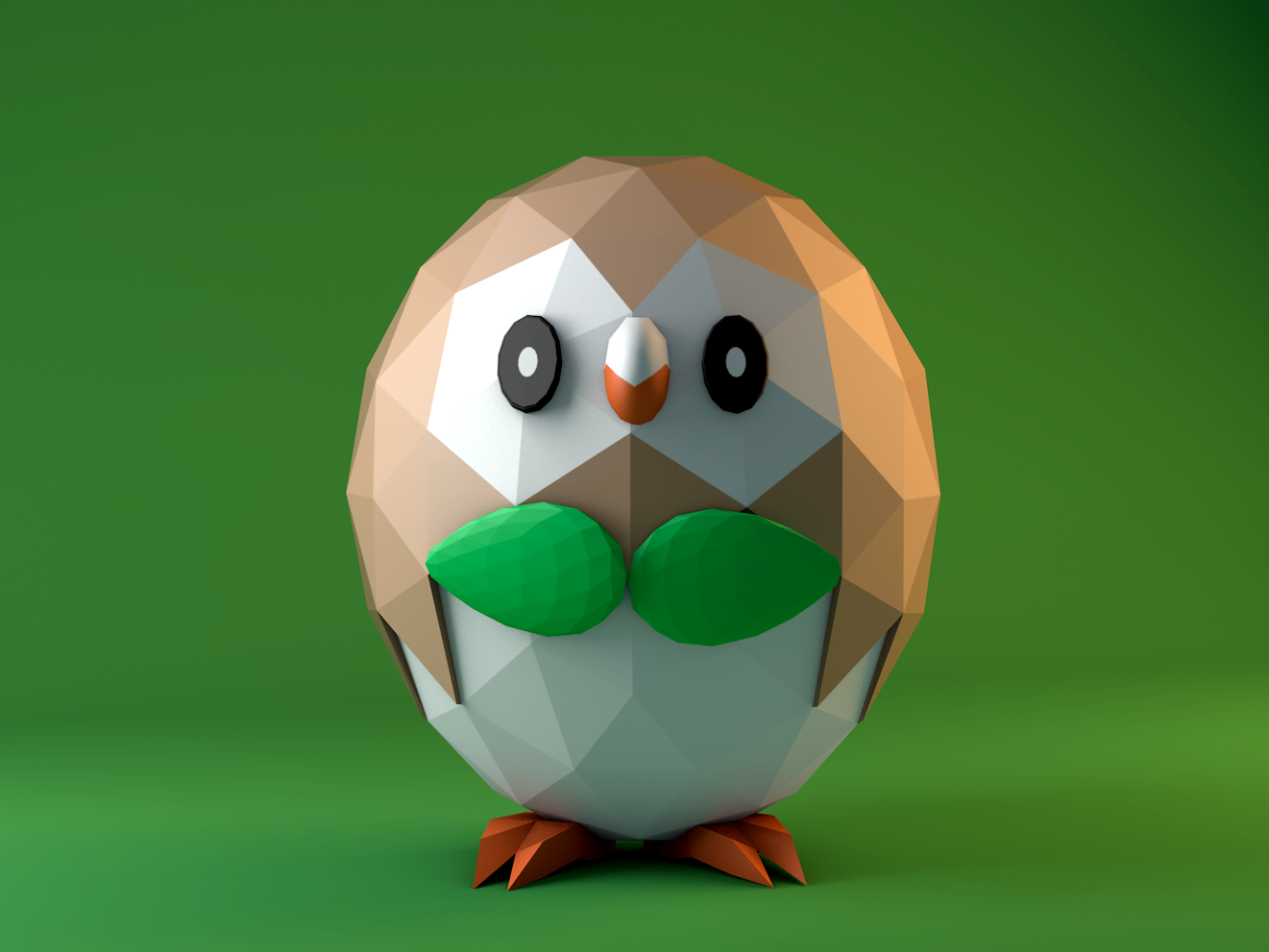 Rowlet Pokémon By Henrique Rocharca Dribbble Dribbble