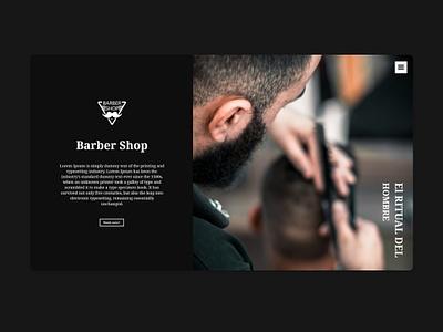 Barber shop website web design ui homepage barbershop web site layout