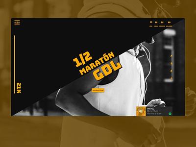 Medio maratón grid layout web ui  ux design web deisgn adobe xd