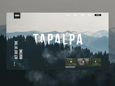 Exploring Tapalpa layout grid ui web website adobe xd web deisgn