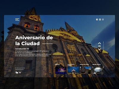 anniversary of the city ui layout website design adobe xd web