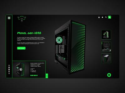 PC Gamer ui deisgn e commerce website gamer pc