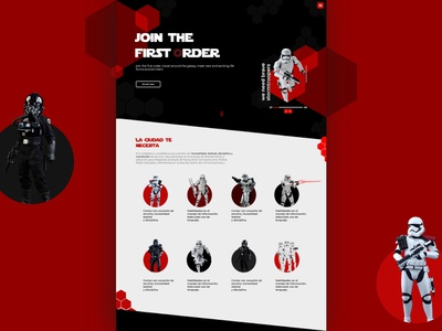 Join the first order starwars web landing page web deisgn website