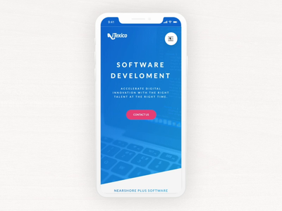 iTexico Menu Transition webdesign responsive blue gradient hamburger menu transition html