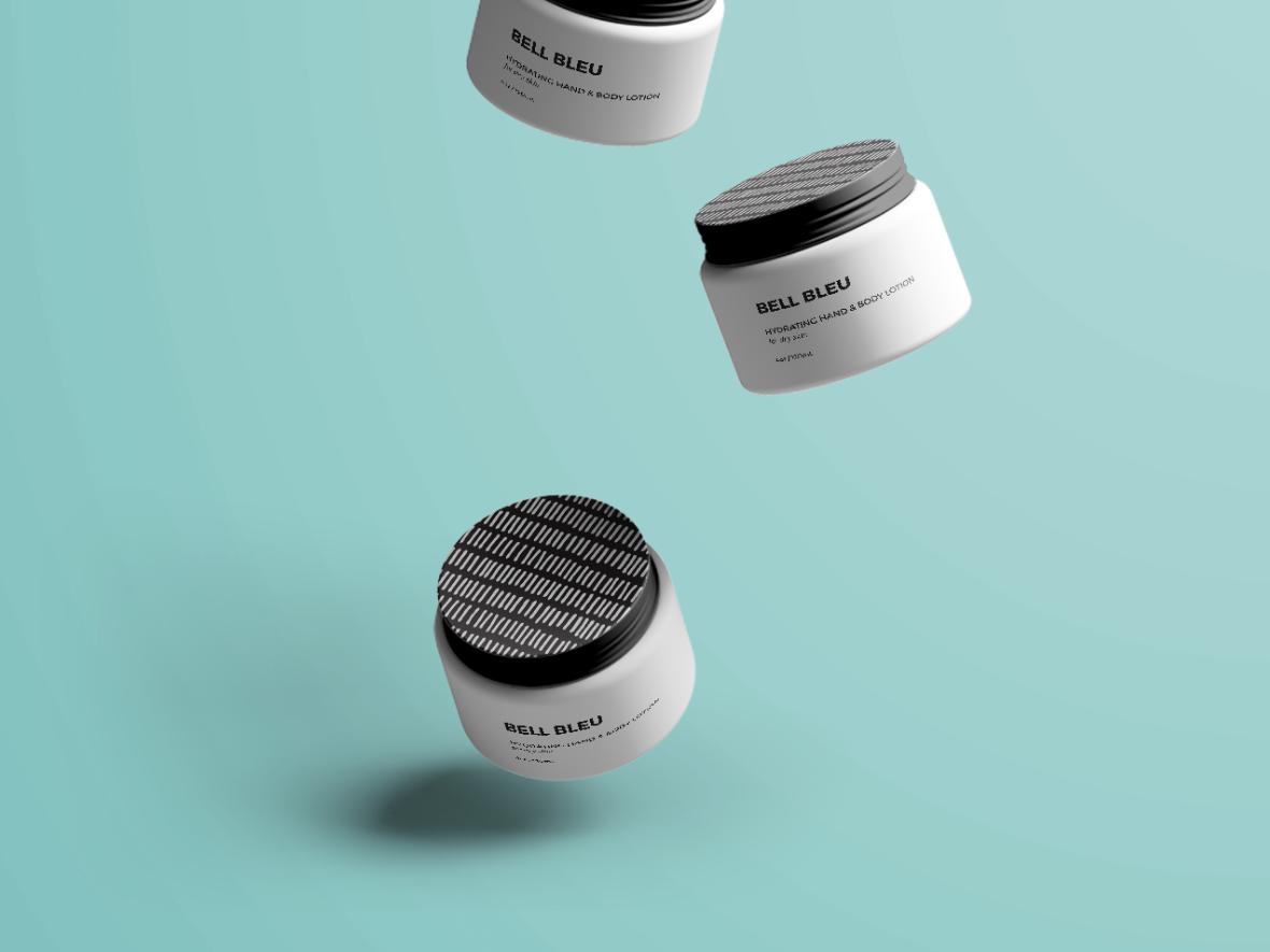 Bell Bleu design photograpy package design skin care brand design branding packaging
