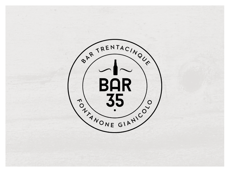 Logo for a new bar in Rome branding logo typography brand identity beer wine bar drink