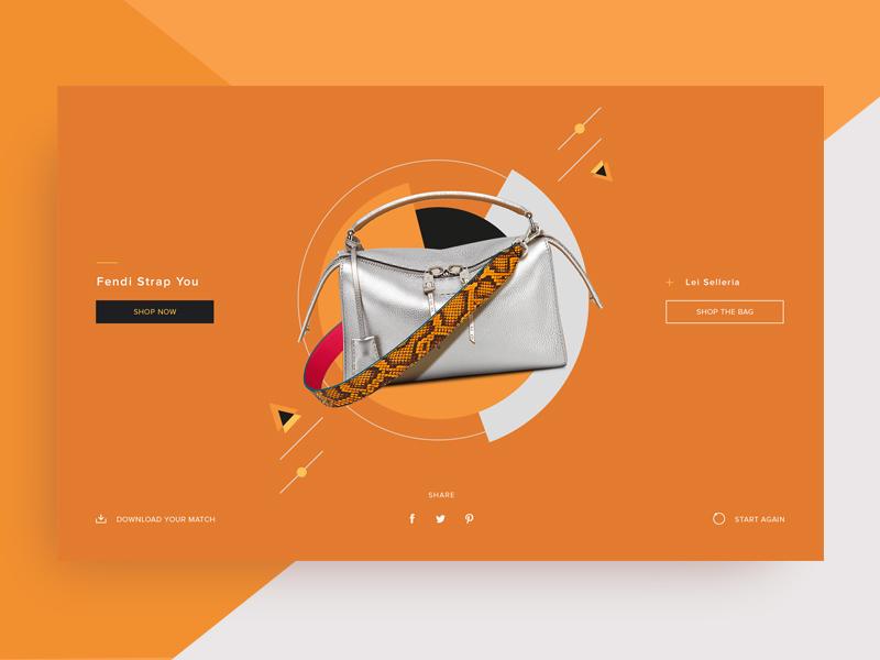 Fendi Strap You #2 orange design ux ui bags fashion fendi
