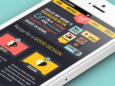 Personal Portfolio iOS view