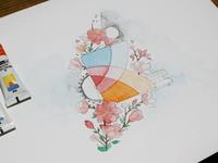 Having fun with watercolors