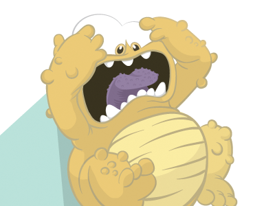 Another children's book illustration monster scared cute lumpy