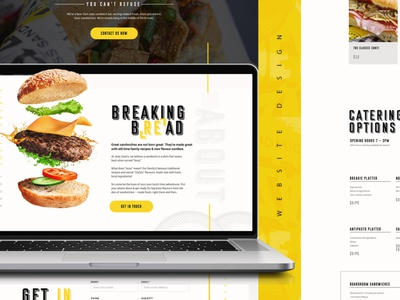 Joey Zaza's | Website Design interaction design user interface awesome inspiration burgers sandwich uiux creative design food website design