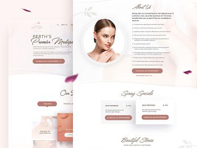 ABC Medispa | Website Design interaction design light design feminine spa inspiration awesome uiux web design website