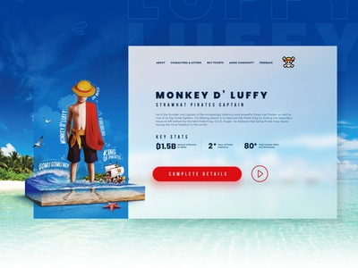 One Piece | Live Action Website Design and Creative Imagery concept website king of pirates luffy monkey d luffy pirates nature photo manipulation awesome imagery creative website design anime one piece