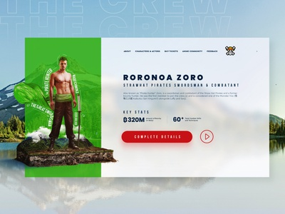 One Piece | Live Action Website Design and Creative Imagery uiux web design website pirates photo manipulation one piece nature monkey d luffy luffy king of pirates creative imagery awesome anime