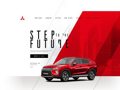 Mitsubishi Local Dealership Website  |  Proposal Project red mitsubishi cars car modern design ui design ux  ui ui user interaction userinterface website concept website design websites