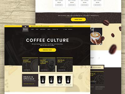Mister Beans Coffee Roasters Website Design uidesign design website beans coffee