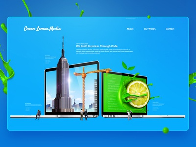 Green Lemon Media Website Design