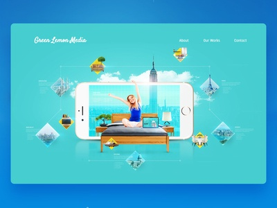 Green Lemon Media Website Design - Hoppify Section