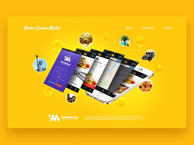 Green Lemon Media Website Design - Wika Magazine Section ui design website design digital agency