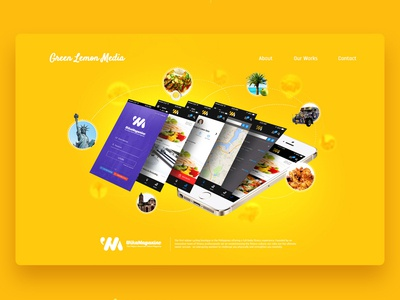 Green Lemon Media Website Design - Wika Magazine Section