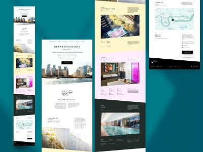 "Upper Riverside Homepage ""F"" ui typography residential responsive website greenwich peninsula"