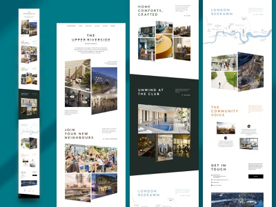 "Upper Riverside Homepage ""G"" upper riverside web ui typography residential responsive website greenwich peninsula"
