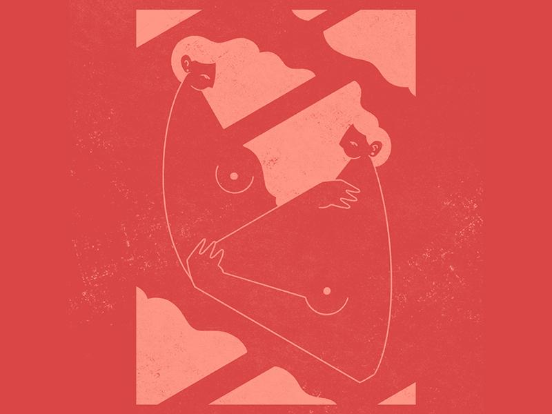 Hold On illustrations woman women design pink red illustrator digital drawing digital art illustration digital illustration