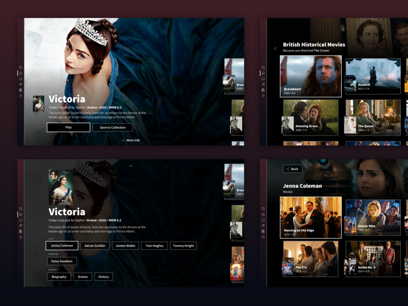 Movies App for Playstation by Gabor Toth | Dribbble | Dribbble