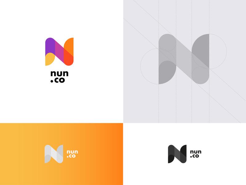 NUN.CO Logotype web app logotype product design logo branding typography design vector