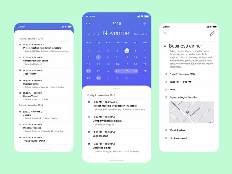 Planner App to do app planner design flat ux ui product design app design minimalistic app