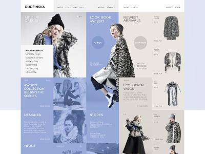 Apparel designer web store wireframe design web ux ui
