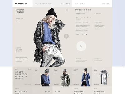 Apparel designer web store wireframe web design webdesign ux ui
