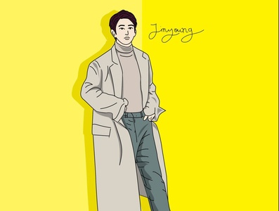vector art ( Jinyoung of GOT7 )