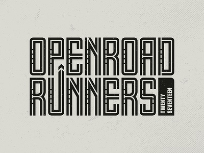 OpenRoad Runners 2017 Logo team events logo design sports design director visual design agency logo graphic design graphic art graphic  design typography branding illustration design