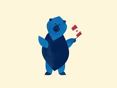 ThoughtFarmer Bear Illustration agency visual design graphic design branding graphic  design graphic art illustration design