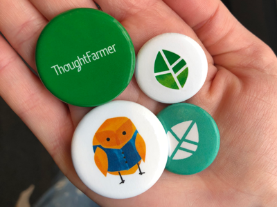 ThoughtFarmer Branded Pins