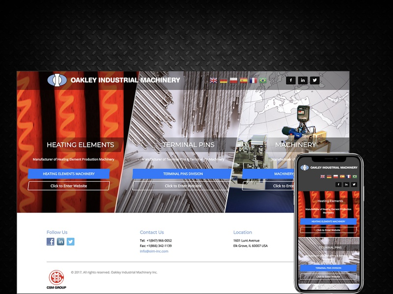 8c97c97bbd Oakley Industrial Machinery machinery website industrial website splashpage  machinerydesign industrialdesign ui