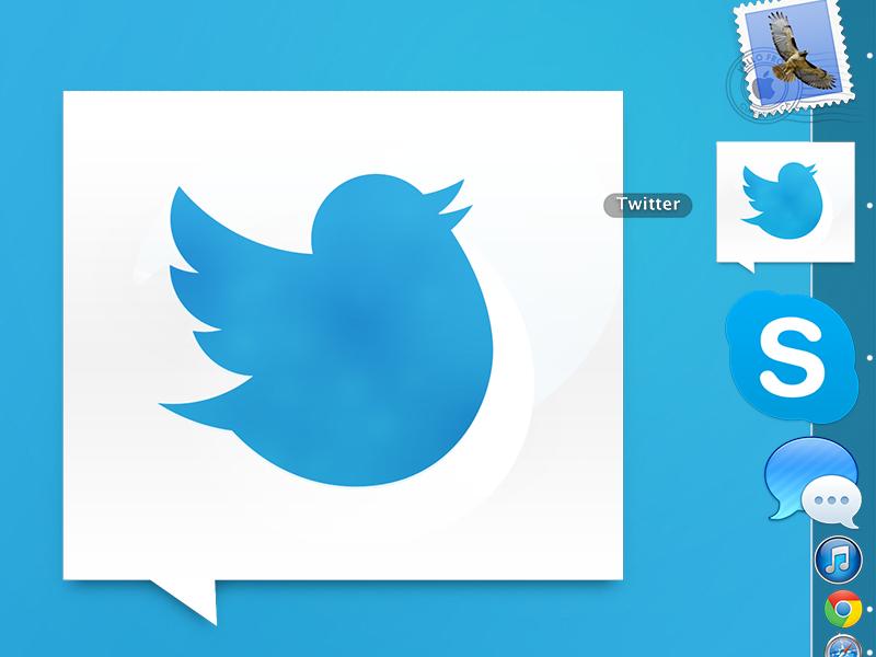 Fat twitter app icon by Art Looi on Dribbble