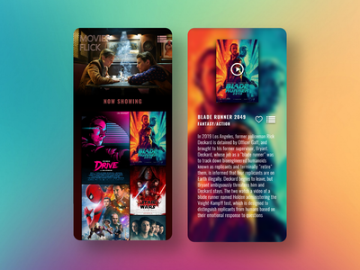 Movie Streaming uidesign modern design ui mobile streaming movie web illustration design app app minimal user experience ux flat