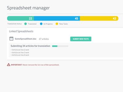 Spreadsheet manager