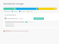 Spreadsheet manager