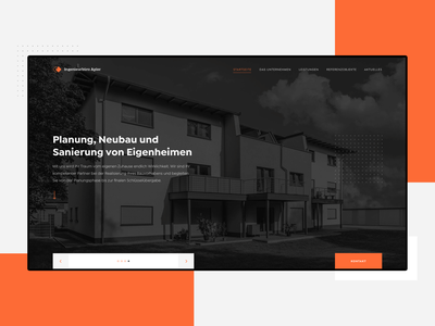 Ingenieurbüro Apler - Landing Page real estate properties minimalistic minimal landing page house homepage germany german firm family engineers engineering construction plan construction clean building architecture architectural architect