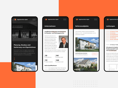 Ingenieurbüro Apler - Mobile Pages real estate agency property construction agency construction firm clean architecture architect building construction responsive mobile layouts mobile screens mobile landing page minimal minimalistic properties real estate