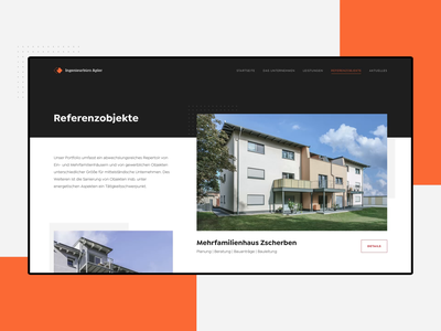 Ingenieurbüro Apler - Website Animation real estate company real estate agency real estate property properties project page minimalistic minimal construction company construction agency construction clean building architecture architect